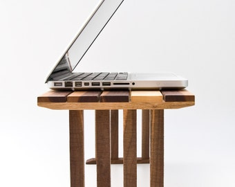 Bedside Laptop Table, Wood Lap Desk, Sofa Table, Bed Laptop Stand, End Table KOKO