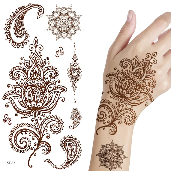 Temporary Tattoo Ink Like Henna: Supperb Temporary Tattoos Inspired Henna