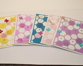 Thank you card, Appreciation cards, Thank you notes, Thanks a lot, Custom Thank you cards,  Honeycomb greeting