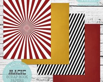 Vintage Magic Scrapbook Papers - INSTANT DOWNLOAD