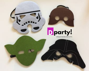Star Wars Party Favors,  Star Wars Party Masks, Star Wars Party Masks Pack of 4/8/12, Star Wars Birthday