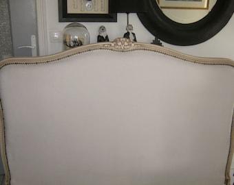 TO order: Headboard 140cm ivory velvet fabric