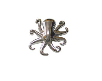 Silver Toned Octopus Magnet