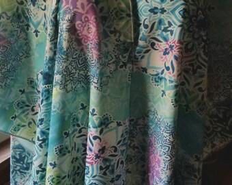 Batik-Print Poncho/Kimono   2 in 1!