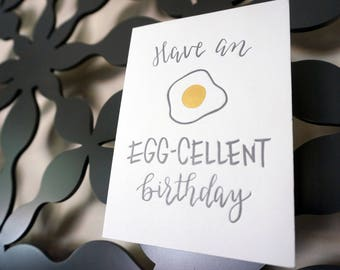 Letterpress Birthday Card with Calligraphy