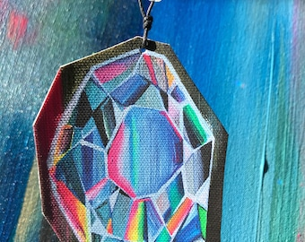 Looking Glass, Canvas Ornament