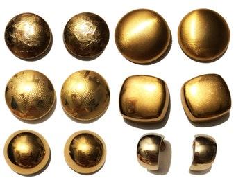 Fist Full of Gold Vintage Pierced Earrings Lot of 6 - Monet