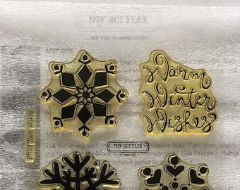 Warm Wishes Acrylic Stamp Set