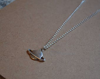 Saturn Planet Necklace - Personalisation Available