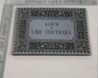 Vintage used Postcard album Chataqua Lake New York