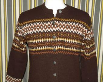 Jersild Vintage Knit Sweater Cardigan Nordic Style Design Size 38