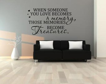 When some becomes a memory heaven remember someone Wall sticker, decal ,quote wall art home decor removable decals stickers sign words
