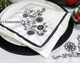VALUE PACK Machine Embroidery Designs  - Elegant Flower Scrolls