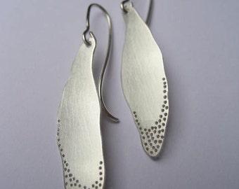 Shadow leaf earrings