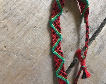 Watermelon Woven Bracelet