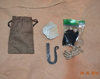 Flint and steel fire making kit