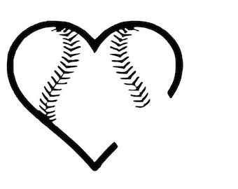Heart softball   Etsy