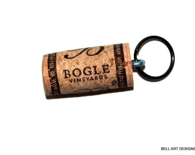 WINE CORK KEYCHAIN, Bogle, Floating, Multiple Key, Bell Art Designs, KC0222/223