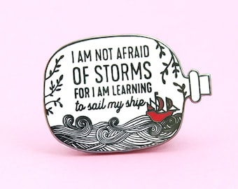 Not Afraid Pin | Little Women quote - Book Pin - Bookworm - Booklover - Book enamel pin