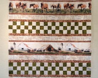 Western Quilt - Greener Pastures- Large Lap quilt