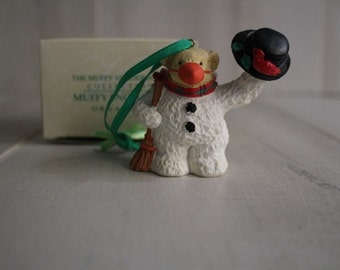 Muffy Vanderbear 1991 Muffy Snowbear Ornament, Muffy Vanderbear Collection, Christmas Ornaments, Christmas Deco