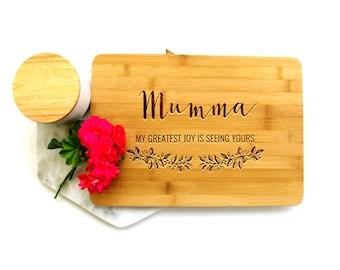 Personalized Cutting Board, Custom Cutting Board, Gift for Mum, Greatest Joy