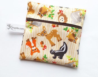 Small Woodland Creatures Reusable Baggie