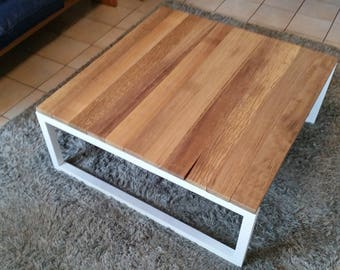 industrial coffee table latte iroko