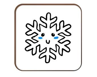 Cute Snowflake coaster