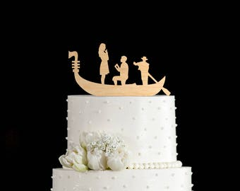 Venice cake topper,gondola wedding cake topper,gondola cake topper,travel wedding cake topper,travel wedding cake,travel cake wedding,73118