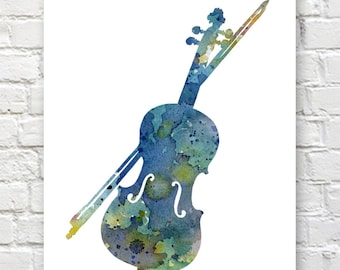 Popular Violin wall art | Etsy BR79