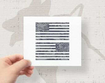 "Set of 2 - Jeep Wrangler American Navy Camo Flag Decals - 6"" x 3.16"""