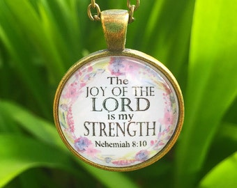 The Joy of the Lord is my Strength Pendant Necklace
