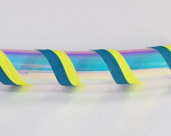 UV blue opal collapsible Hula Hoop/ Glow /Fitness Hoop /  Workout/ Travel Hoop / Exercise / UV blacklight reactive