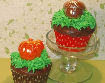 Acorns and the Great Pumpkin Cupcake Picks (12)