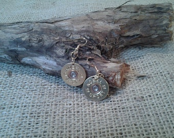 12 Gauge Nobel Sport, Wire Earrings - Single or Pair - Hand Made From real shotgun shells