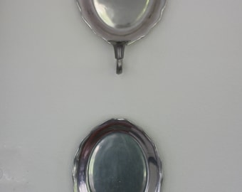 Pair of Vintage Pewter Wall Candle Sconces by Wilton Columbia PA