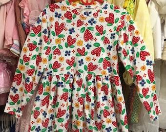 90s Heart Dress Girls 8/10