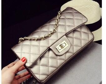 Gold quilted bag gold, mother's day, mother's day gift, bag caseau, gold, shoulder bag bag luxury bag trend