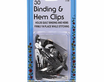 Binding & Hem Clips - Collins, C136 - Nickle Plated Steel - 30 pack
