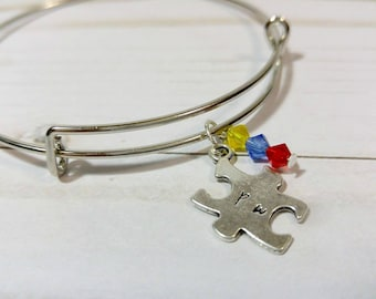 Autism Awareness Puzzle Piece Bracelet/Bangle