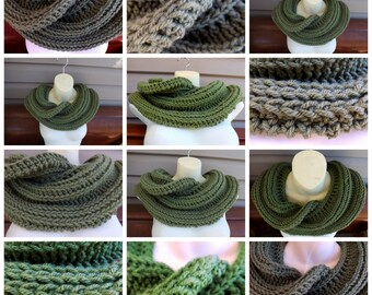 How to Crochet an Infinity Scarf, Crochet Pattern Scarf Pattern, Crochet Cowl Pattern Infinity Pattern Cowl Crochet Pattern, Snake Scarf