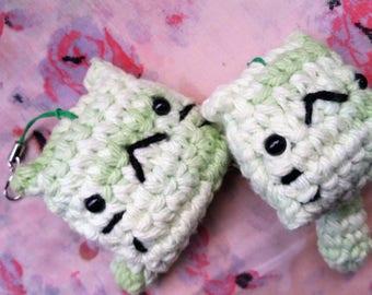 Crochet Aloe Green Cat Key Chain