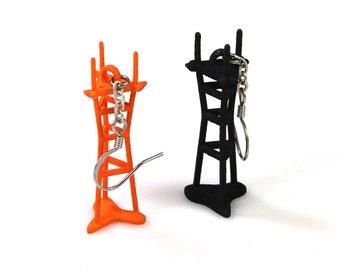 Sutro Tower Earrings - 3D Printed Nylon