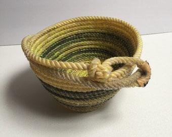 Yellow and Black Lariat Bowl
