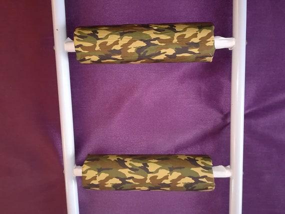 Khaki Rungeeze Padded Bunk Bed Ladder Rung Covers