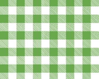 Gingham Green Fabric by the Yard