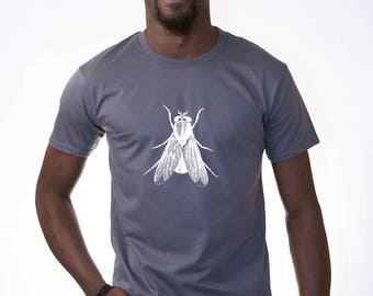 Fly v2 vintage anatomy woodcut design t shirt