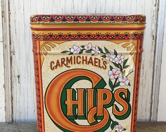 1980's Carmichael's Chips Tin - Made In England