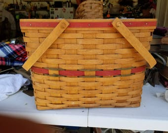 Red and Green Woven Basket